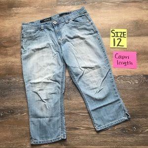 Jordache Women's Size 12 Capri Length Jeans